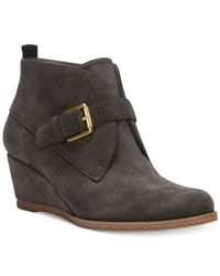 Franco Sarto - Gray Amerosa Wedge Booties - Lyst