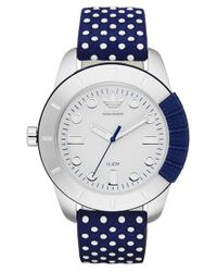 Adidas Originals | Blue 'adh-1969' Leather Strap Watch | Lyst
