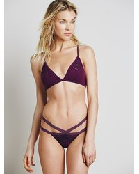 Free People | Purple Private Arts Womens Strappy Thong | Lyst