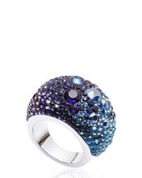 Swarovski | Blue & Purple Crystal Ring Size 6 | Lyst