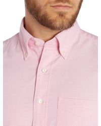 GANT | Pink Plain Oxford Classic Fit Shirt for Men | Lyst
