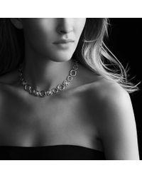 David Yurman | Metallic Infinity Link Necklace with Diamonds | Lyst