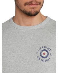 Ben Sherman | Gray Vintage Target Print Crew Neck Sweatshirt for Men | Lyst