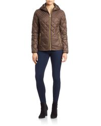 MICHAEL Michael Kors | Brown Packable Quilted Jacket | Lyst