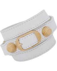 Balenciaga | White Arena Giant Wrap Bracelet | Lyst