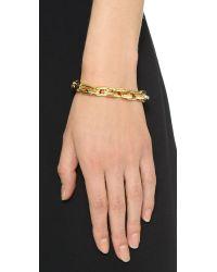 Eddie Borgo | Metallic Small Link Bracelet - Gold | Lyst