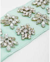 ASOS - Multicolor Premium Embellished Flowers Headband - Lyst