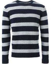 Oliver Spencer - Blue Striped Sweater for Men - Lyst
