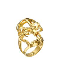 Alexander McQueen | Metallic Deco Skull Small Ring | Lyst