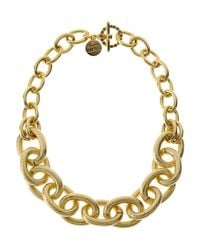 1AR By Unoaerre | Metallic Gold-Plated Oval Link Necklace | Lyst