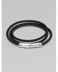 John Hardy | Black Triple-wrap Leather Bracelet for Men | Lyst