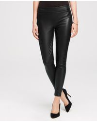 Ann Taylor | Black Petite Faux Leather Leggings | Lyst