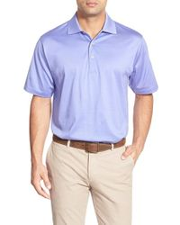 Peter Millar - Blue Egyptian Cotton Lisle Polo for Men - Lyst