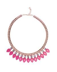 Ted Baker - Pink Emari Pear Drop Necklace - Lyst