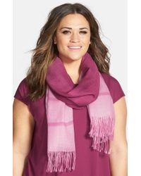 Eileen Fisher - Pink Ombre Alpaca and Silk Scarf  - Lyst