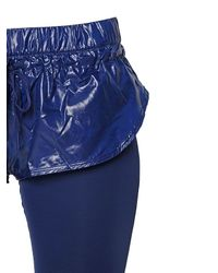 Adidas By Stella McCartney - Blue Performance Tight Fit Leggings W/ Shorts - Lyst