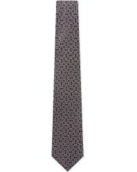 Charvet - Gray Segments Pattern Silk Tie for Men - Lyst