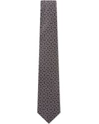 Charvet | Gray Segments Pattern Silk Tie for Men | Lyst