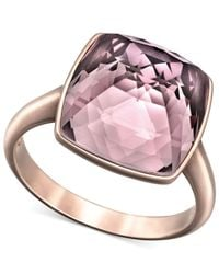 Swarovski - Purple Rose Goldtone Antique Pink Crystal Ring - Lyst