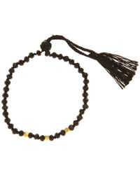 John Lewis - Black Gold Plated Agate Bead Friendship Bracelet - Lyst