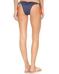 Sofia By Vix - Blue Denim Tie Side Bikini Bottoms - Lyst