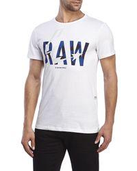 G-Star RAW - White Lamar Tee for Men - Lyst