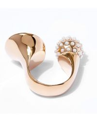 Chloé - Metallic Gold-tone And Swarovski Pearl Darcey Ring - Lyst