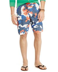 Polo Ralph Lauren | Blue Shelter Island Camo Swim Trunks for Men | Lyst
