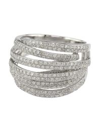 Effy - Metallic Diamond And 14k White Gold Ring, 1.05 Tcw - Lyst