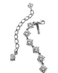 Oscar de la Renta - Metallic Delicate Star Necklace - Crystal/silver - Lyst