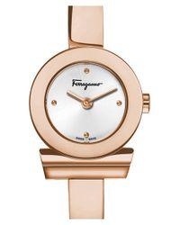 Ferragamo - Metallic 'gancino' Bracelet Watch - Lyst