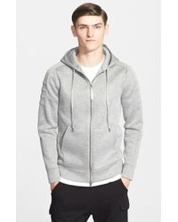 Helmut Lang - Gray Full Zip Hoodie for Men - Lyst