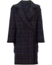 Etro - Multicolor Checked Double Breasted Coat - Lyst