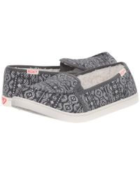 Roxy | Gray Lido Iii Faux Fur Lined Slip-on Shoe | Lyst