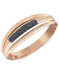 Swarovski - Pink Cypress Rose Gold-Tone Crystal Bangle Bracelet - Lyst
