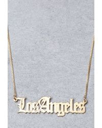 Forever 21 - Metallic Mala By Patty Rodriguez Where You From Los Angeles Necklace - Lyst