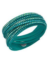 Swarovski | Green Slake Crystal Wrap Bracelet | Lyst