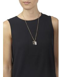 McQ | Metallic Gold Tone Charm Necklace | Lyst