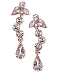 Givenchy | Pink Rose Gold-tone Dangle Drop Earrings | Lyst