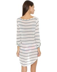 Splendid | Gray Hamptons Tunic | Lyst