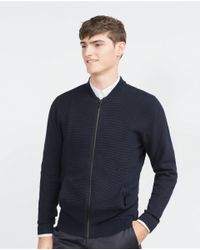 Zara | Blue Structured Jacket for Men | Lyst