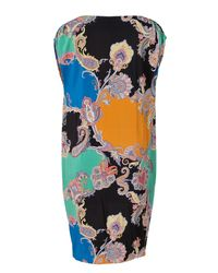 Etro - Black Printed Silk Tunic-dress - Lyst