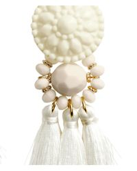 H&M | Natural Earrings With Tassels | Lyst