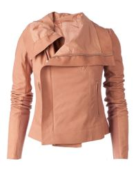 Rick Owens | Pink Biker Jacket | Lyst
