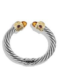 David Yurman | Metallic Renaissance Bracelet With Citrine, Iolite, Rhodalite Garnet And Gold | Lyst