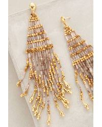 Gas Bijoux | Metallic Luminescent Fringe Earrings | Lyst