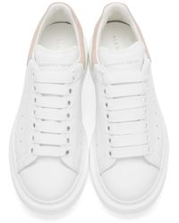 Alexander McQueen - White And Pink Low-top Sneakers - Lyst