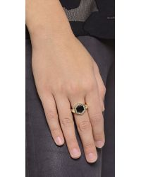 House of Harlow 1960 - Hexes Flip Ring - Black - Lyst