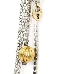 Vera Wang - Metallic Charm Detail Earrings - Lyst
