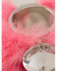 Fendi - Pink Fox Fur Cuff - Lyst
